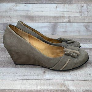Gabor Womens Round Toe Slip On Wedge Heels Size 6